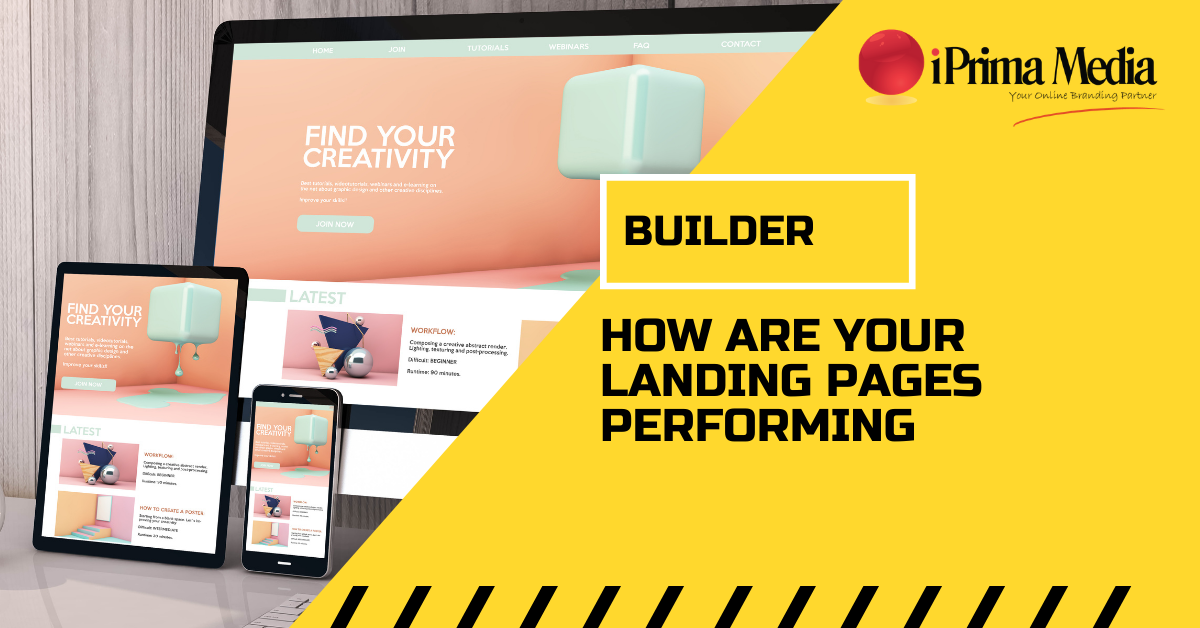 builder how are your landing pages performing