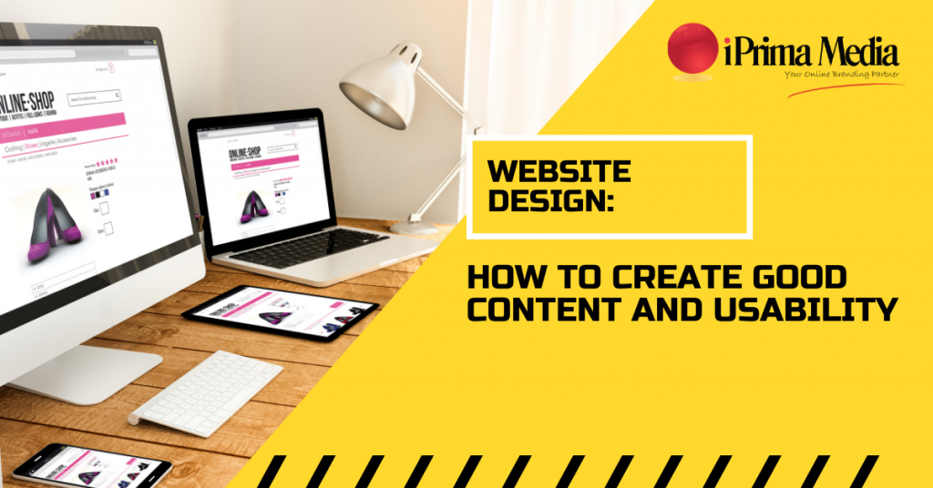 website design, how to create good content and usability