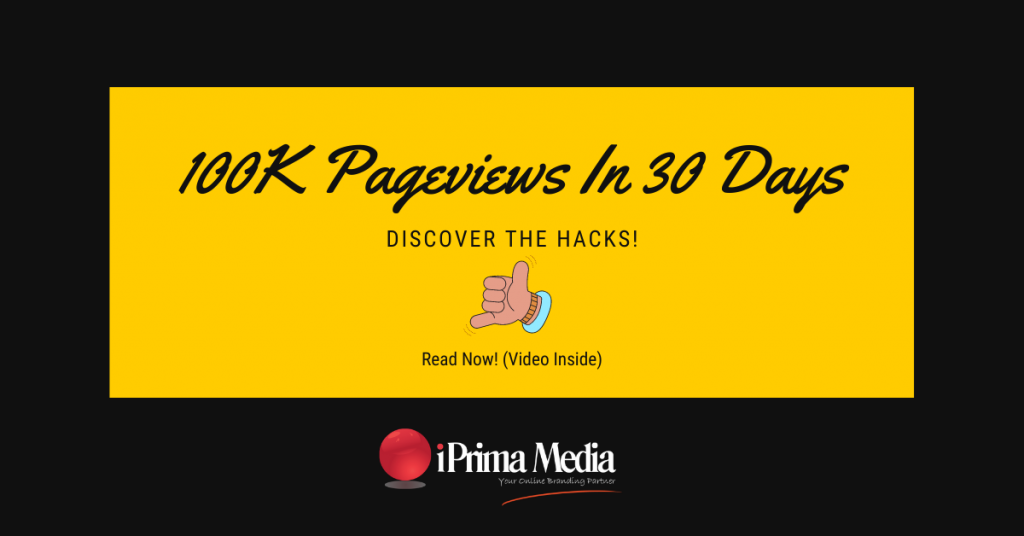 100K Pageviews google marketing