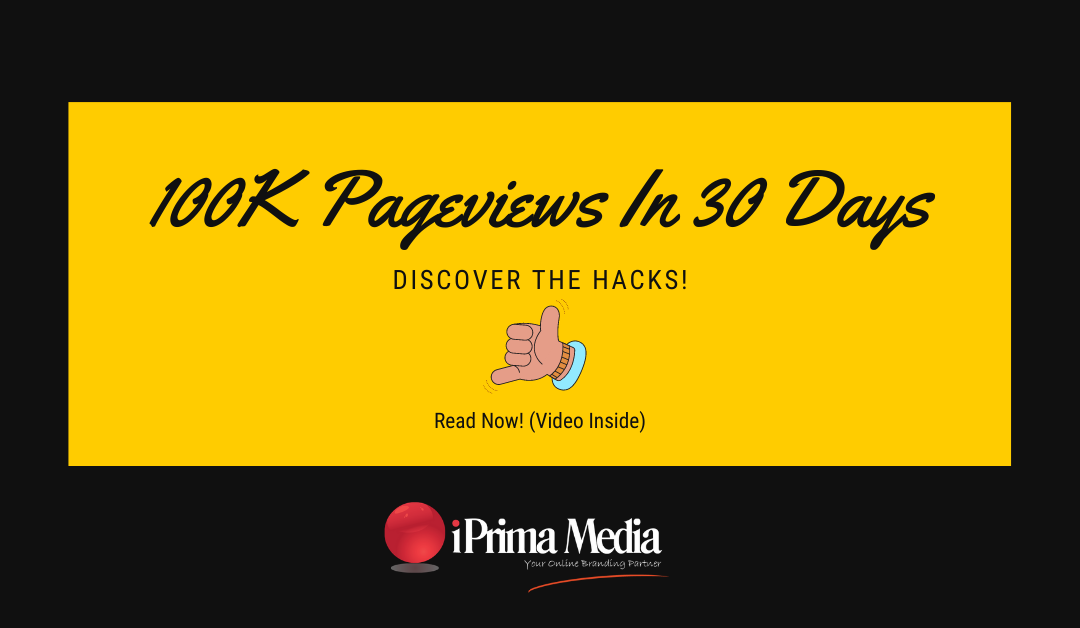 100K Pageviews google marketing